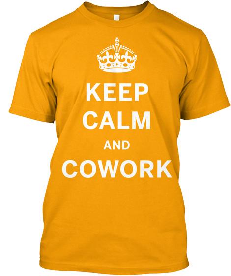 Som Kc Cowork T Shirt Gold T-Shirt Front