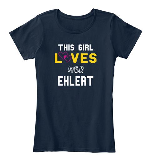 This Girl L Ves Her Ehlert New Navy T-Shirt Front