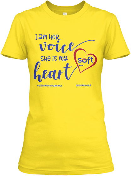 Her Voice   Trisomy Awareness Day Colors Daisy Women's T-Shirt Front