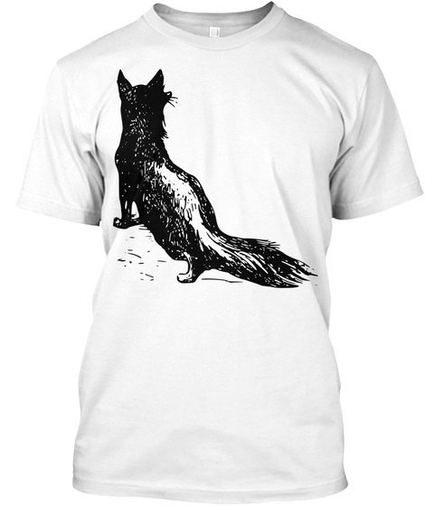 Vintage Fox White T-Shirt Front