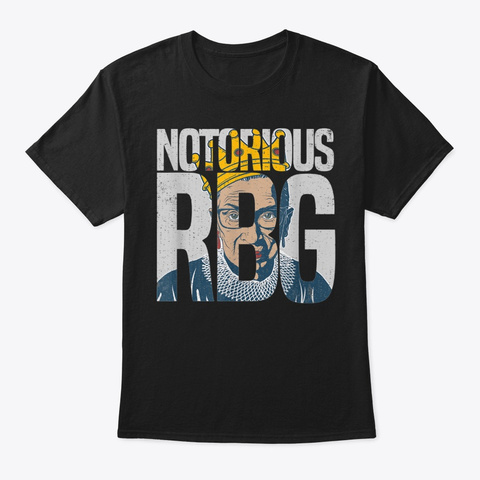 The Supremes Notorious Rbg Black T-Shirt Front