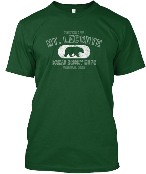 Property Of Mt. Leconte Shirt Deep Forest T-Shirt Front