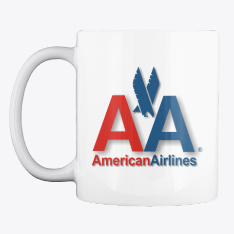American Airlines   Mug White T-Shirt Front