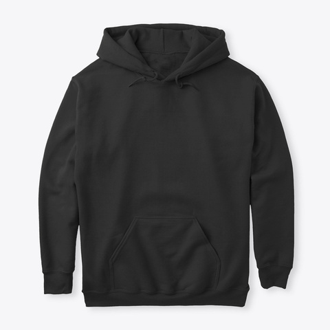 How Expert Classic Hoodie: No Logo/Design Black T-Shirt Front