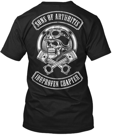 old biker skull family motorcycle sons of arthritis