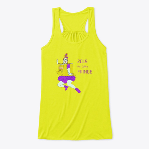 2019 Fo Co Fringe Fest Swag Neon Yellow T-Shirt Front