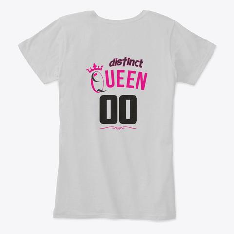 May Birthday Queen Light Heather Grey T-Shirt Back