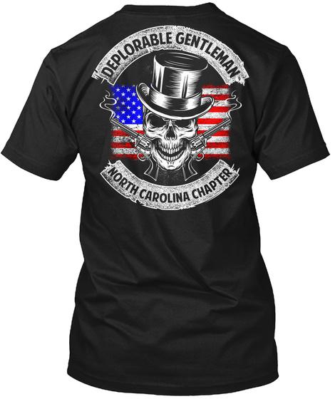 Deplorable Genltenman North Carolina Chapter Black T-Shirt Back