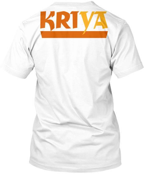 Kriya Institute T Shirts White T-Shirt Back