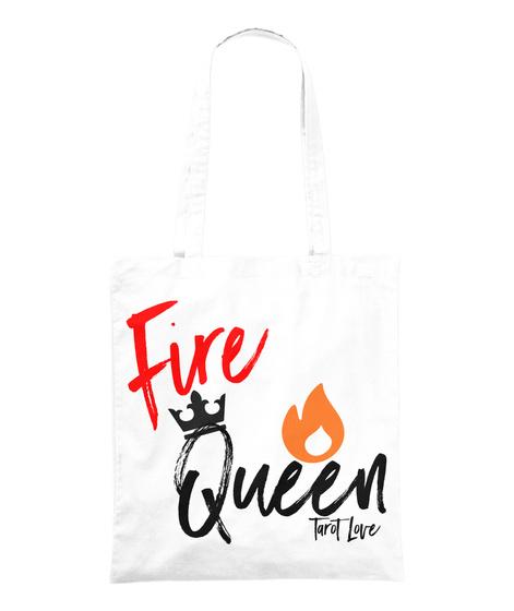 Fire Queen Tarot Love White T-Shirt Front