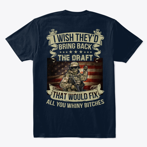 Awesome Veterans T Shirts! New Navy T-Shirt Back