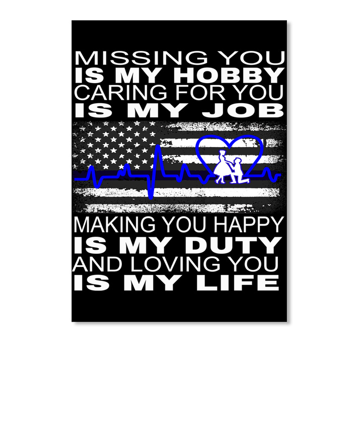 Details about Police Valentine Gift Missing You Is My Hobby Caring For Job  Sticker - Portrait