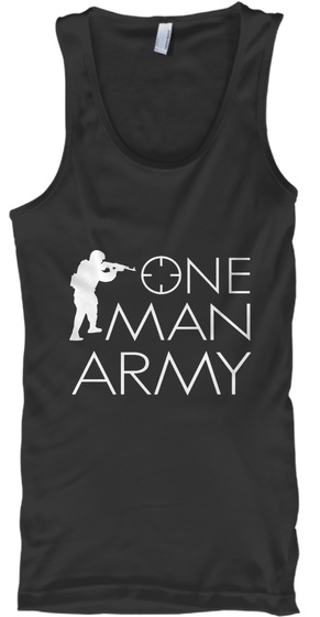 One Man Army Black Tank Top Front