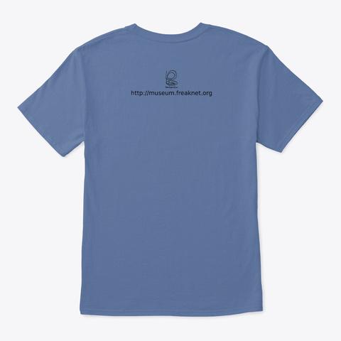 Troppo Caffe' Poco Cervello  Denim Blue T-Shirt Back