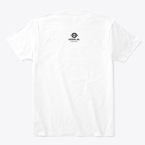 Blunt Clothing Eddie Wht White T-Shirt Back