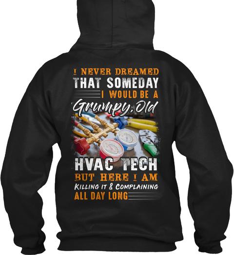 Hvac Tech Christmas Special Black T-Shirt Back