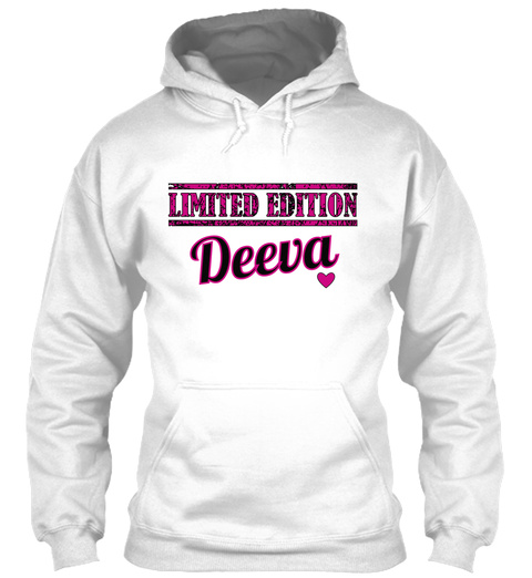 Limited Edition Deeva White T-Shirt Front