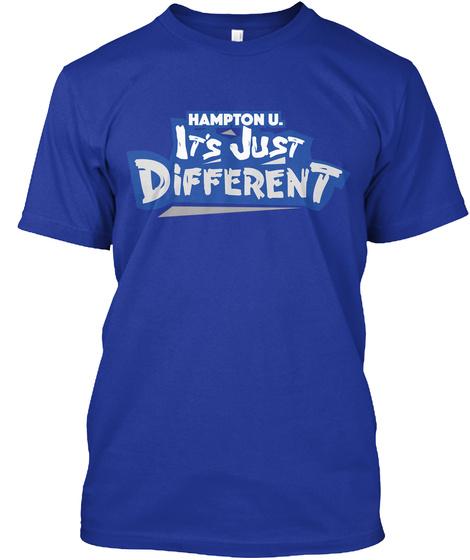 Hamptonu. It's Just Different Lapis T-Shirt Front