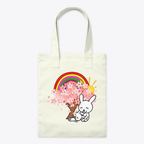 Bunny Mom Natural Tote Bag Front