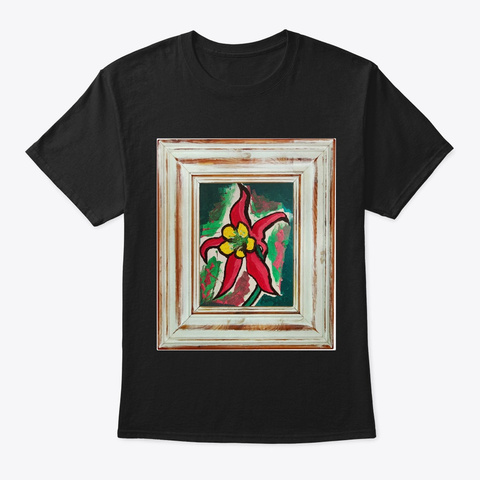Painting And Frame Rustic Black T-Shirt Front
