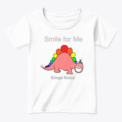 Stego Would Like You To Smile White  T-Shirt Front