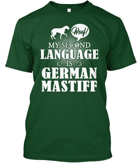 German Mastiff Deep Forest T-Shirt Front