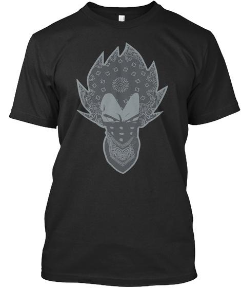 Vegeta Bandana Crew Black T-Shirt Front