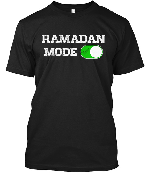 Ramadan Mode Holidays Muslims T Shirt Black T-Shirt Front