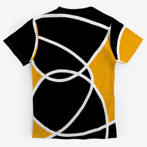 Black Orange Abstract Minimal Art Standard T-Shirt Back