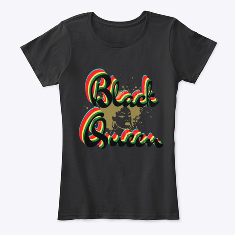 Black Queen Black T-Shirt Front