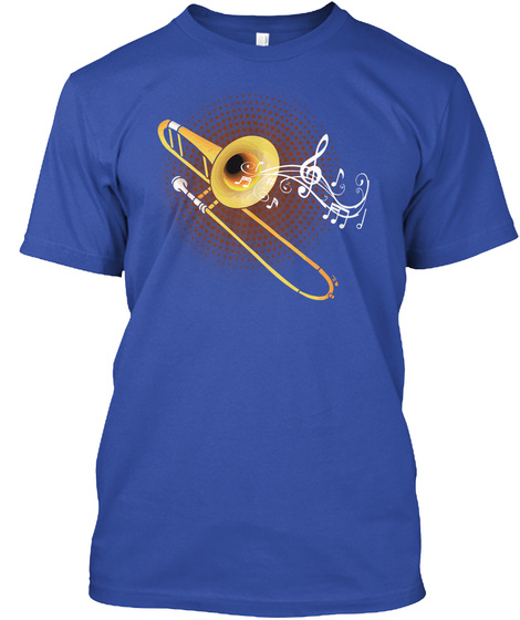 Trombonist Marching Band True Royal T-Shirt Front