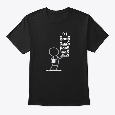 At Your Service Black T-Shirt Front