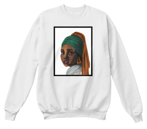 Girl With The Doorknockers White  T-Shirt Front