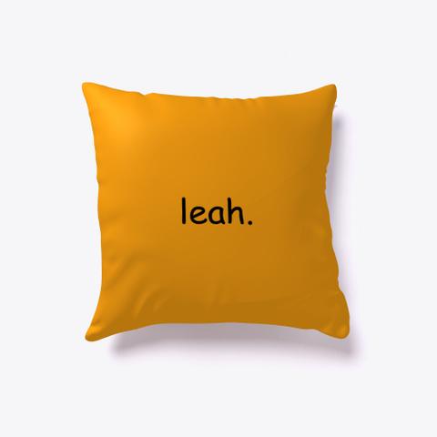 Leah. Orange T-Shirt Front