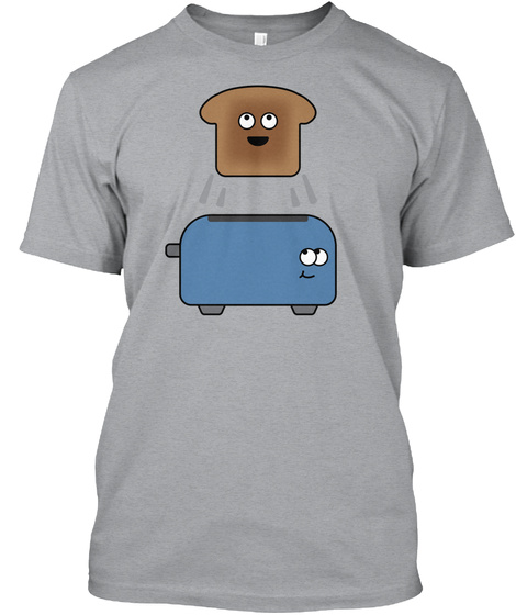 Toaster Guys Heather Grey T-Shirt Front