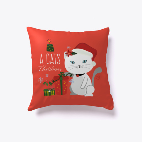 """"""" A Cats Christmas""""  Red T-Shirt Front"""