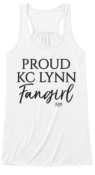 Proud Kc Lynn Fangirl Xox White Women's Tank Top Front