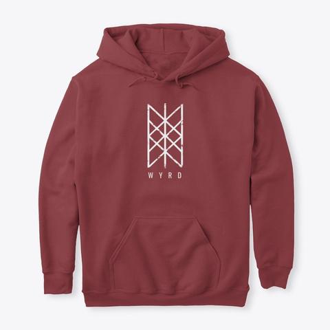 Wyrd   Das Netz Des Schicksal Maroon T-Shirt Front