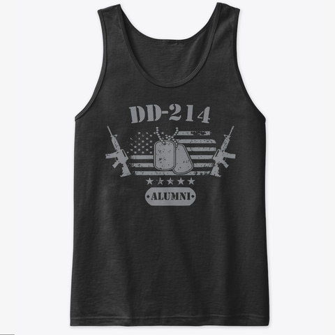 Dd 214 Us Armed Force Alumni Military Black T-Shirt Front
