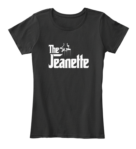 Jeanette The Family Tee Black T-Shirt Front
