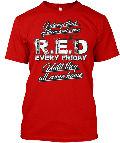 Red Friday Prayer Tshirt! Classic Red T-Shirt Front