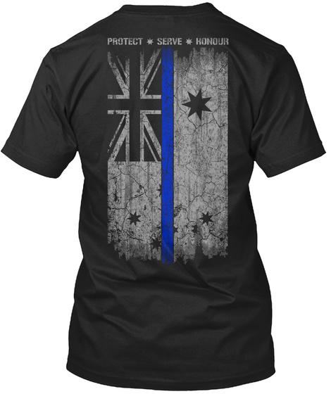 Protect Serve Honour Black T-Shirt Back