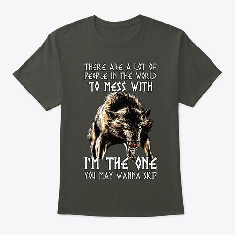 Norse Wolf The One You Wanna Skip Viking Smoke Gray T-Shirt Front
