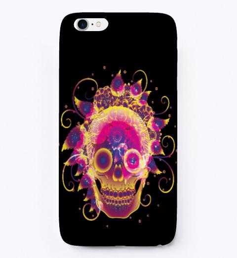 Skull I Phone Case Black T-Shirt Front