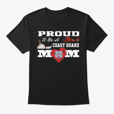 Proud To Be A Cg Mom... Black T-Shirt Front