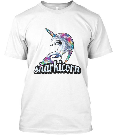 Sharkicorn Shirt White T-Shirt Front