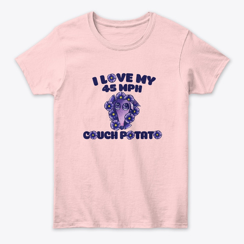 I Love My Greyhound Light Pink T-Shirt Front