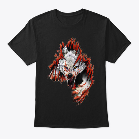 Vintage Retro Wolf Shirt Gift For Mens W Black T-Shirt Front