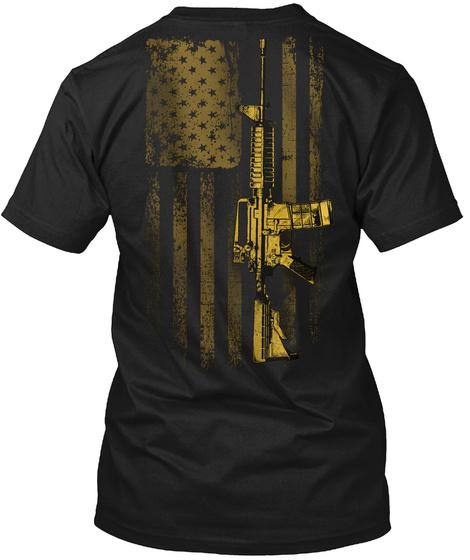 2 A: Protect The Second Amendment Black T-Shirt Back