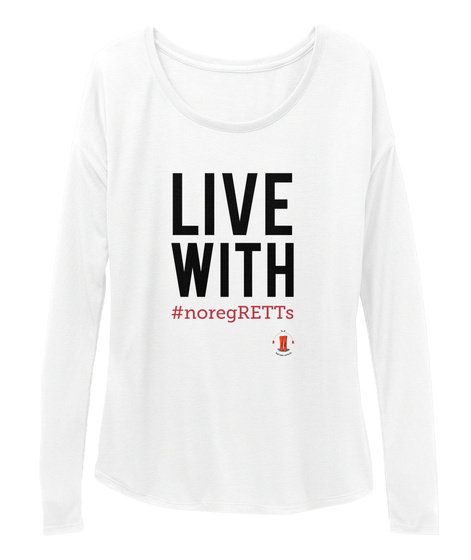 Live With #Noregretts White T-Shirt Front
